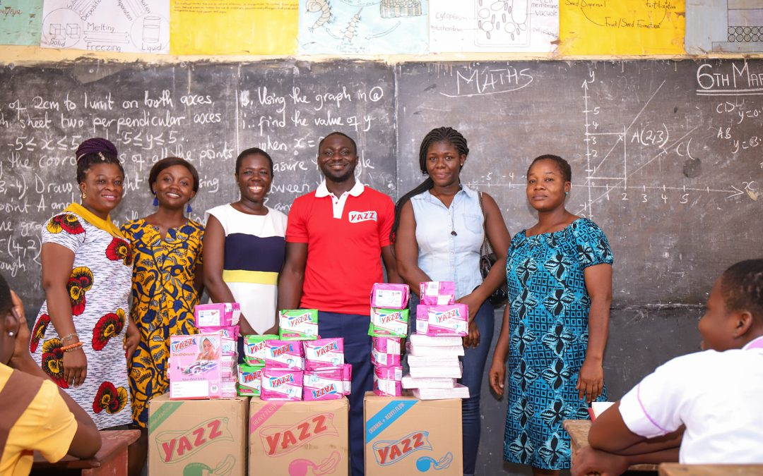 Lexta Ghana Limited spent time with the girls of Unity high JHS in